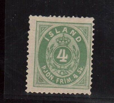 Iceland #O1 Mint World Rarity **With Certificate**