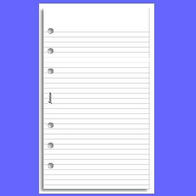 Filofax Personal White Ruled Note Pad 132210
