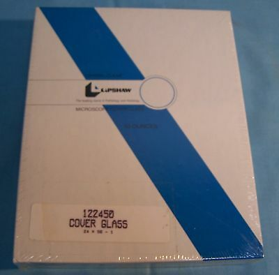 Lipshaw 122450 Crystal Clear Microscope Cover Glass Slide 1-2450