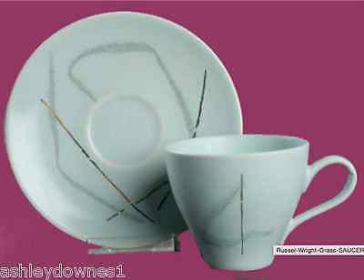 """Russel Wright """"Grass"""" CUP AND SAUCER SET, 1957 Knowles , rare, HTF"""