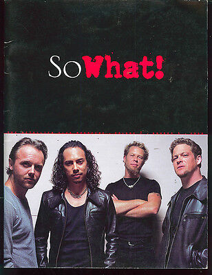 Metallica So What Fan Club Magazine Volume 7 Number 4 2000