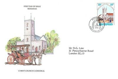 (09534) FDC - Bahamas - Christchurch Cathedral - 1986