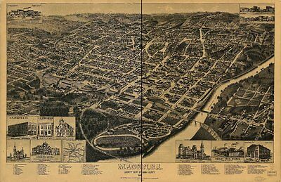 Georgia Vintage Panoramic Maps Collection On Cd