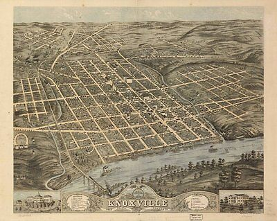 Tennessee Vintage Panoramic Maps Collection On Cd