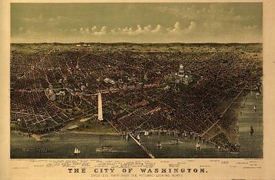 Washington Dc Vintage Panoramic Maps Collection On Cd