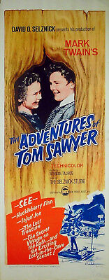 ADVENTURES OF TOM SAWYER 1938 Mark Twain Tommy Kelly US INSERT POSTER