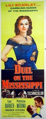 DUEL ON THE MISSISSIPPI 1955 Lex Barker, Patricia Medina US INSERT POSTER
