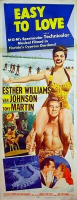 EASY TO LOVE 1953 Esther Williams, Van Johnson, Tony Martin US  INSERT POSTER