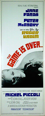 GAME IS OVER 1966 Jane Fonda, Michel Piccoli US INSERT POSTER