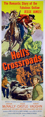 HELL'S CROSSROADS Stephen McNally, Robert Vaughn US INSERT POSTER