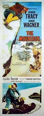 MOUNTAIN 1956 Spencer Tracy, Robert Wagner, Claire Trevor US INSERT POSTER