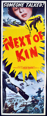 NEXT OF KIN 1942 Mervyn Johns, Nova Pilbeam, Jack Hawkins US INSERT POSTER