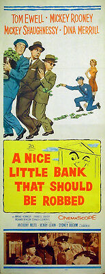 NICE LITTLE BANK THAT SHOULD BE ROBBED 1958 Tom Ewell INSERT POSTER