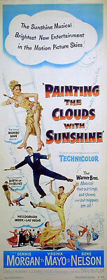 PAINTING THE CLOUDS WITH SUNSHINE 1951 Virginia Mayo US INSERT POSTER