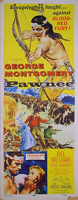 PAWNEE 1957 George Montgomery Lola Albright Bill Williams US INSERT POSTER
