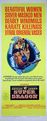 SECRET AGENT SUPERDRAGON 1966 Ray Danton, Marisa Mell US 14x36 POSTER