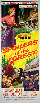 SPOILERS OF THE FOREST 1957 Rod Cameron, Vera Ralston US INSERT POSTER