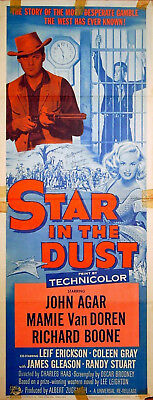 STAR IN  THE DUST 1956 Mamie Van Doren, Clint Eastwood US 14x36 POSTER