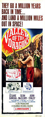 VALLEY OF THE DRAGONS 1961 Cesare Danova Sean McClory US INSERT POSTER