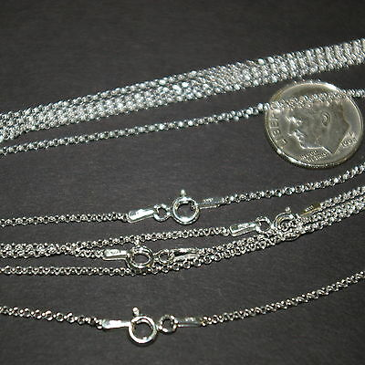 "5 pcs Sterling Silver 925 1.3mm Round ROLO / BELCHER Chain NECKLACES 16.5"" 42cm"