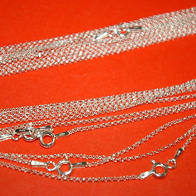 "50 pcs Sterling Silver 925 1.3mm Round ROLO / BELCHER Chain NECKLACES 16.5"" 42cm"