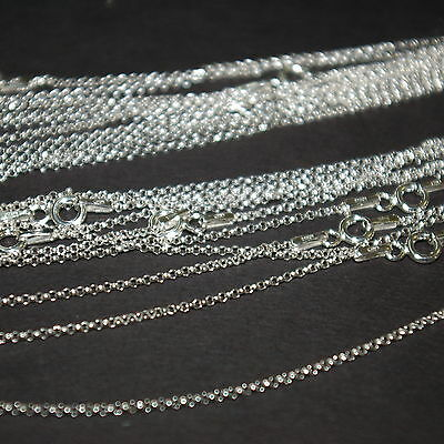 "50 pcs Sterling Silver 925 1.3mm Round ROLO / BELCHER Chain NECKLACES 18"" 45cm"