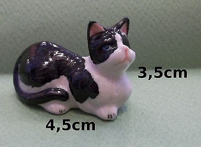 chat miniature en porcelaine,collection,décoration,animal, cat,poes  S2-7
