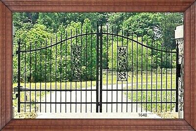 Custom Built Residential & Commercial Driveway Entry Gate 12 Ft Wide Dual Swing
