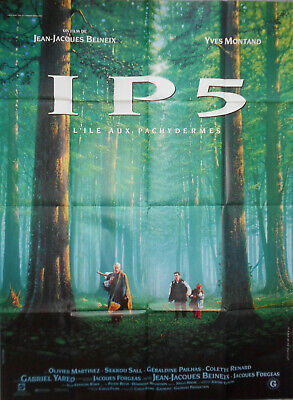 IP5 THE ISLAND OF PACHYDERMS 1994 Yves Montand Jean-Jacques Beneix FRENCH POSTER