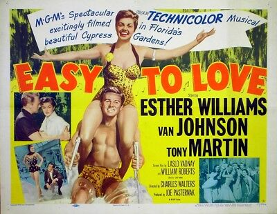 EASY TO LOVE 1953 Esther Williams, Van Johnson, Tony Martin US  HALF SHEET