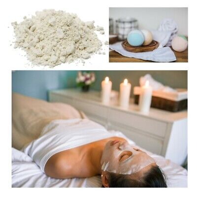 100gm WHITE CLAY Add to Soap, Skin Care Base MASKS, froths soap, creamier