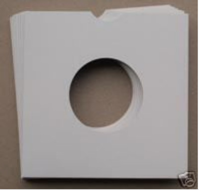 """50 7"""" White Card Record Sleeves / Masterbags / Covers"""