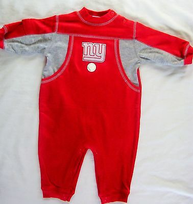 NY New York Giants Baby Infant Romper Coverall Creeper Outfit NWOT 6/9M