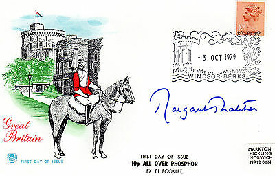 MARGARET THATCHER - Ex UK Primeminister - personally signed GREAT BRITAIN FDC