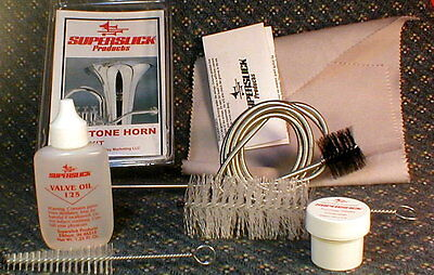 Bari Horn Care/Maint Kit lacquered [gold color] Baritone snake oil brush etc