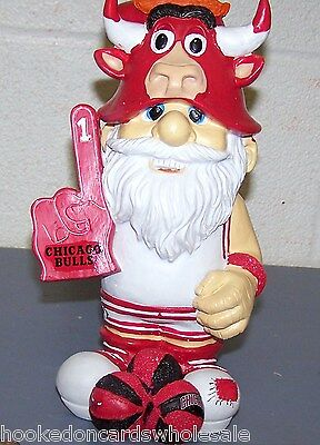 Chicago Bulls NBA Team Thematic Gnome - NEW!
