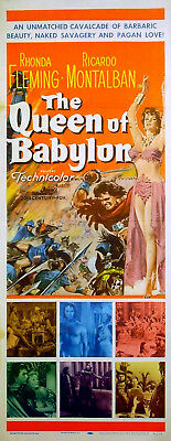 QUEEN OF BABYLON 1955 Rhonda Fleming Ricardo Montalban US INSERT POSTER
