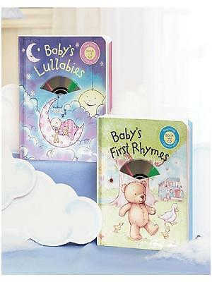 Babys FIRST BOOK & 12-Song CD *LULLABIES or *NURSERY RHYMES Padded HC *Free Ship
