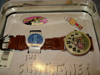 The Flintstones Character Watch With Dino Pin NMIB W/Outer Box,Fossil,H. Barbara