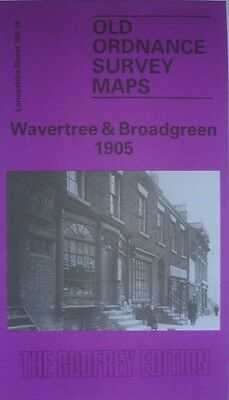 Old Ordnance Survey Map Wavetree & Broad Green east Liverpool 1905 S106.16 New