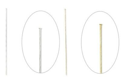 """10, 50 OR 100 Silver or Brass Gold 6"""" Long 18 Gauge Hat Stick Pins with Clutch"""