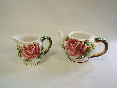 "Lefton ""Americana"" Teapot (no Lid) 952 and Cream Pitcher 959 Vintage"