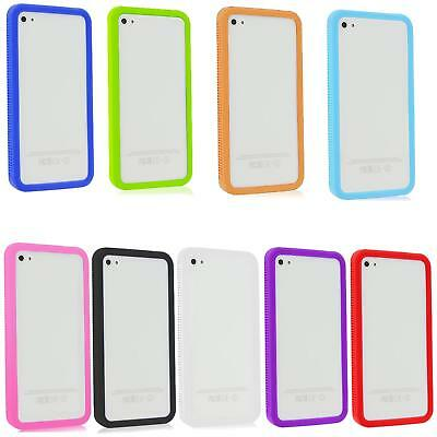 iPhone 4 4S Silicone Bumper Case Cover Skin Shockproof