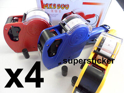 4 x MX-5500 EOS 1 line 8 Digits Price Tag Label Gun+ 4 Inks