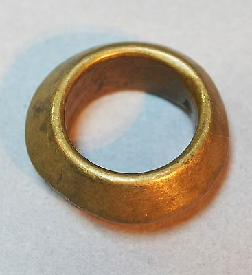 Antique Ethiopian Brass Metal Wedding Ring Bead Ethiopia Africa Ring Size 6 1/2