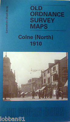 Old Ordnance Survey Maps Colne North near Burnley  Lancs 1910 S 48.16 New Map