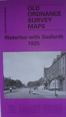 Old Ordnance Survey Map Waterloo with Seaforth  Lancs 1925 Sheet 99.09  New Map