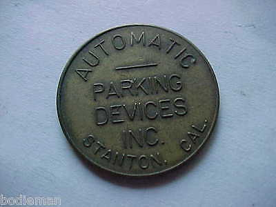 STANTON, CA. - Vintage Brass Parking Token