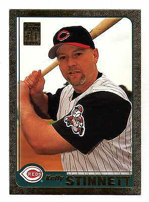 2001 Topps Gold BB #644 Kelly Stinnett Reds BV$5