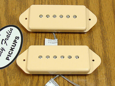 NEW Lindy Fralin Hum Cancelling Dogear PICKUP SET Creme Pickups Cream Guitar
